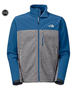 The North Face Men's Apex Bionic Jacket High Rise Grey Htr/Dish Blue Large from The North Face