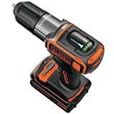 Factory-Reconditioned Black & Decker BDCDE120CR 20V MAX Cordless Lithium-Ion 3/8 in. Drill Driver with Autosense Technology