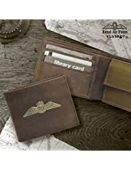 Novelty - Royal Air Force Vintage Leather Wallet - BKBRAFWALLET - Bunkerbound