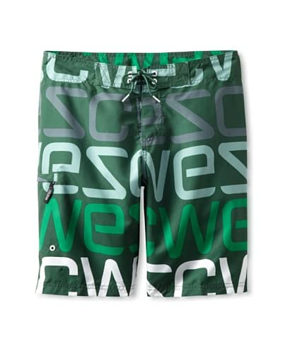 WeSC Men's D Javan Board Shorts  [Greener Pastures]