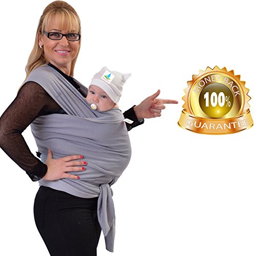 Buy Baby Wrap Sling | Natural Cotton | Grey | Nursing Cover and Fashion Baby Carrier in One | Best B...