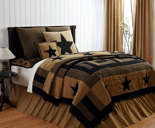 Nice You will see more info pare expense and in addition read evaluation customer opinions ahead of buy pc DELAWARE California King Quilt Set Black u Tan