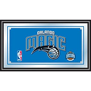 NBA1500-OM-Orlando Magic NBA Framed Logo Mirror by Trademark