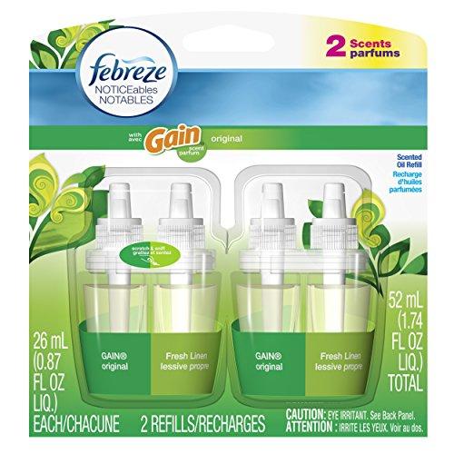 Febreze Noticeables Gain Original Air Freshener Refill (2 Count; .879 Fl Oz Each), 1.74 Ounce front-187749