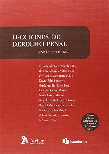 LECCIONES DE DERECHO PENAL