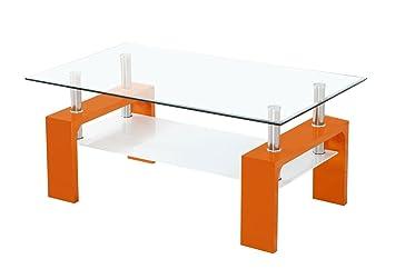 Couchtisch Dakoro 68, Farbe: Orange - Abmessungen: 45 x 100 x 63 cm (H x B x T)