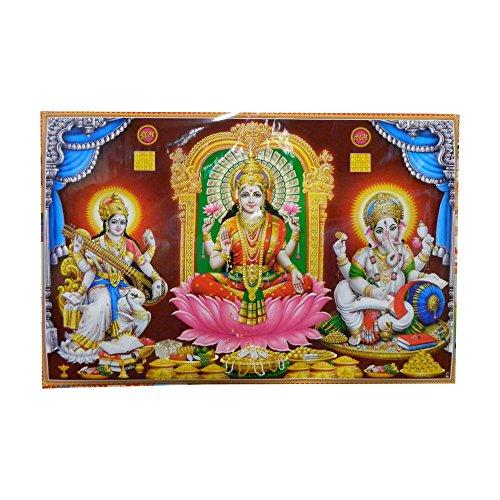 poster-divinita-indiane-lakshmi-sarasvati-ganesha-formato-xl-146-x-96-cm-stampa-artistica-su-carta-l