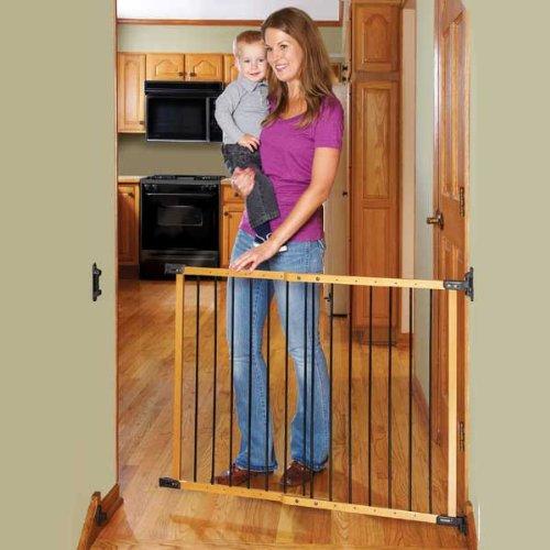 Kidco Safeway Gate Designer Angle Mount - Oak - 1