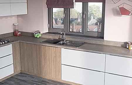 Egger Contemporary Isodora Beige Effect Kitchen Bathroom Laminate Worktop Offcut Work Surface 40mm Breakfast Bar - 3m x 1200mm x 8mm Splashback