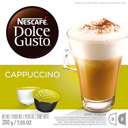 Nescafe Dolce Gusto for Nescafe Dolce Gusto Brewers, Cappuccino, 48 Count (Cappuccino Coffee Pods compare prices)