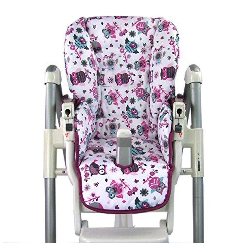 Babys-Dreams-Sitzkissen-Bezug-Ersatzbezug-fr-Peg-Perego-Prima-Pappa-Diner-MOTIV-EULE-1-NEU