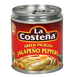 La Costena Green Pickled Whole Jalapeno Peppers, 7-Ounce Cans (Pack of 24)
