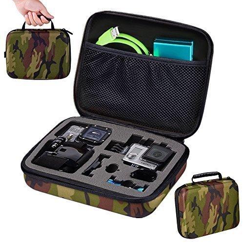 Mudder Accessori per Videocamere Gopro- Caso Sacchetto Protettivo Trasporto per Gopro Hero 4, 3 +, 3, 2 (Verde Militare)
