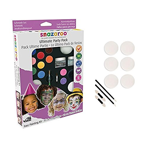 snazaroo-face-paint-ultimate-party-pack-with-10-piece-applicator-pack-new