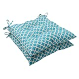 Pillow Perfect Indoor/Outdoor Hockley Tufted Seat Cushion, Teal, Set of 2