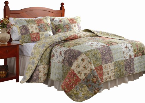 Lowest Prices! Greenland Home Blooming Prairie King Quilt Set