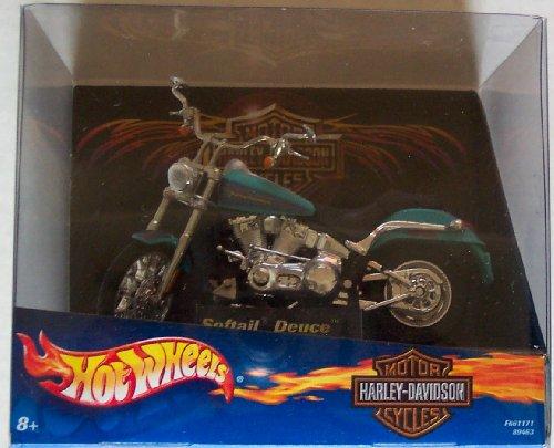 Hot Wheels Harley Davidson Softail Deuce 1:18 Die Cast Motorcycle