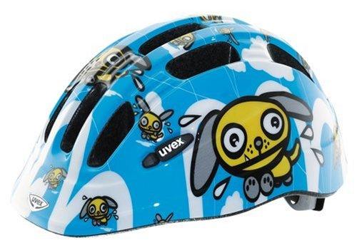 UVEX Cartoon Junior Bicycle Helmet (Dog Blue/White/Yellow, 49-55cm)