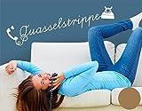 Wandtattoo Quasselstrippe B x H: 180cm x 35cm Farbe: kupfer (erhältlich in 35 Farben und 7 Größen)