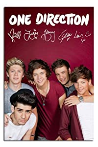 Iposters One Direction Maroon Poster - 91.5 X 61cms (36 X 24 Inches) by iPosters
