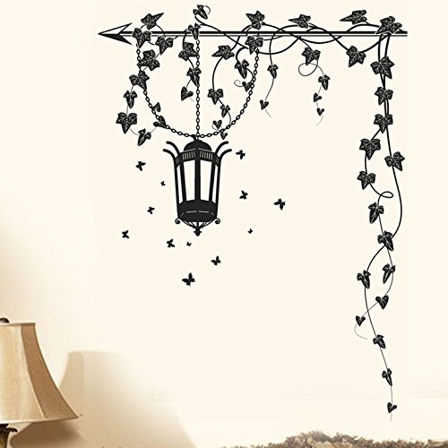 ' 'Hanging Lamp and Vines' Wall Sticker