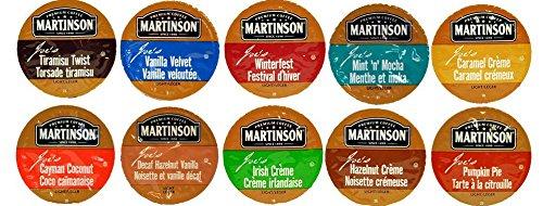 10 Cup Martinson Joe'S® Flavored Coffee Sampler! 10 Unique Flavors. Tiramisu Twist, Vanilla Velvet