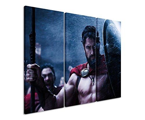 stampata-leonidas-sparta-3-x-60-x-30-cm-totale-100-x-60-cm-telaio-di-alta-qualita-con-vera-tela-come