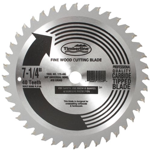 Timberline 175-40C Specialty All Purpose Diamond Knockout Atb Grind Thin Kerf Carbide Tipped Saw Blade