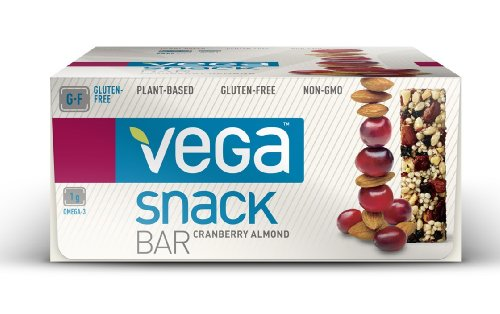 Vega Snack Bar, 12 Count, Cranberry Almond
