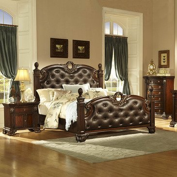 Homelegance Orleans 3 Piece Poster Bedroom Set In Rich Cherry front-984880