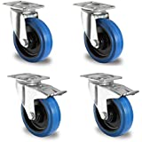 1 Satz Blue Wheels Transportrollen 125mm 200kg / Rolle Lenk/FS