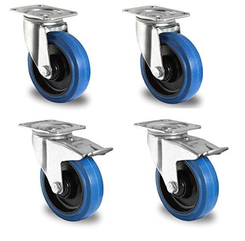 1-Satz-Blue-Wheels-Transportrollen-125mm-200kg-Rolle-LenkFS