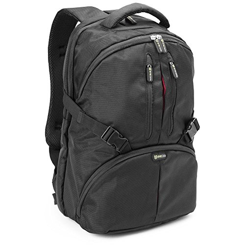 Evecase Convertible School / DSLR Camera Lens Backpack with Laptop Tablet Compartment and Rain cover - Black for Canon, Nikon, Sony, Fujifilm, Panasonic, Pentax, Samsung, Olympus and more (Canon T3i Filters compare prices)