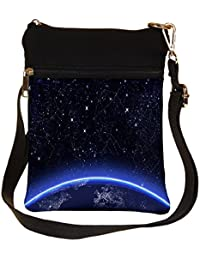 Snoogg Abstract Stars Cross Body Tote Bag / Shoulder Sling Carry Bag