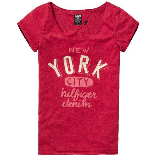 Hilfiger Denim  Women's Lexie Cn Tee S/S 4 / 1657617619 T-Shirt Red (946 Chili Pepper) 36