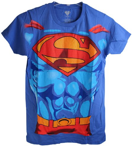 DC Comics Bioworld Superman Costume Design Men's Adult Tee Shirt