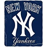 "New York Yankees MLB Light Weight Fleece Blanket (Wicked Series) (50""x60"")"