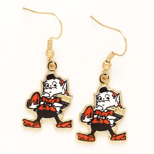 Cleveland Browns Brownie Elf Dangle Earrings