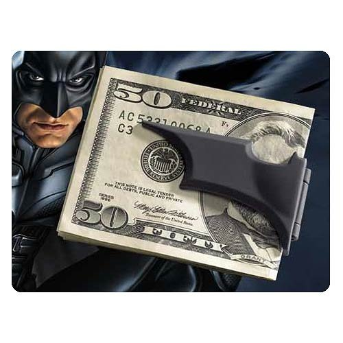 Batman The Dark Knight Rises Folding Batarang Satin Black Money Clip at Gotham City Store