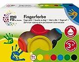 Marabu 042100088 - Fingerfarbe, 6 x 35 ml von Marabu
