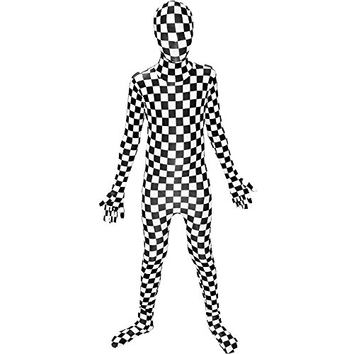 Black & White Checkered Morphsuit Kids Costume