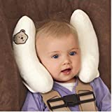 Baby Pillow(0-3 age),SPECOOL silk cotton baby protective pillow sleeping pillow,baby safety seat head pillow neck pillow, give the child safety protect,Newborn Infant Pillow. (Ivory)