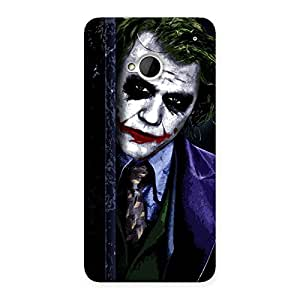 Premium Joke Sneeking Multicolor Back Case Cover for HTC One M7
