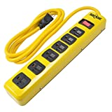 Yellow Jacket 5139N Metal Power Strip with 6-Foot Cord, 6-Outlet