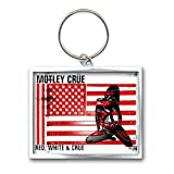 MOTLEY CRUE Official Product Die Cast / Enamel Keyring RED,WHITE & CRUE