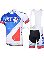 Can be mixed size 2015 FDJ Team Cycling jersey/Riding Clothes/Cycling short sleeve Bib Shorts suit Free Shipping