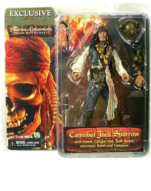 Buy Low Price NECA Sdcc 2006 Exclusive – Pirates Of The Caribbean Cannibal Jack Sparrow Figure (B000HFJXVA)