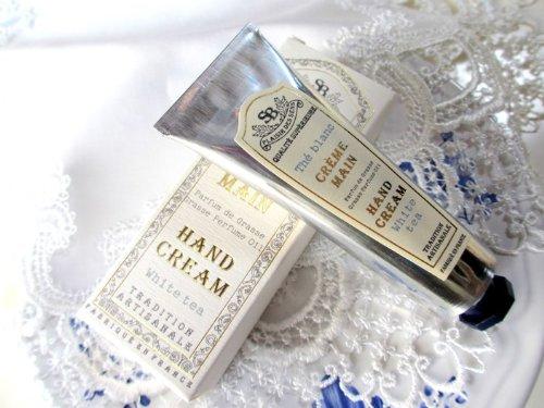 サンタール・エ・ボーテ ハンドクリーム ホワイトティー 30ml オリーブ&シアバターで高保湿 グラース産天然香料 プロヴァンス