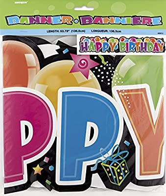 Giant Jointed Happy Birthday Banner from Unique Party Favors