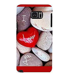 printtech I Love You Stones Back Case Cover for Samsung Galaxy Note 5 N920